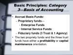 basic principles category 3 basis of accounting