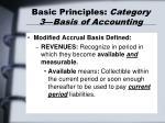 basic principles category 3 basis of accounting26