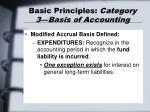 basic principles category 3 basis of accounting28