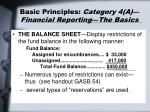 basic principles category 4 a financial reporting the basics