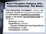 basic principles category 4 a financial reporting the basics31