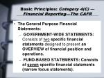 basic principles category 4 c financial reporting the cafr39