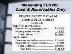 measuring flows cash receivables only