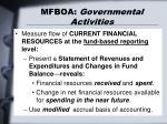 mfboa governmental activities