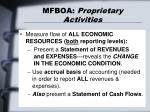 mfboa proprietary activities