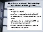the governmental accounting standards board gasb