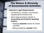 the nature diversity of governmental activities8