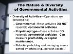 the nature diversity of governmental activities9