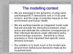 the modelling context