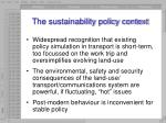 the sustainability policy context