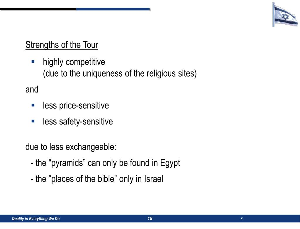Strengths of the Tour