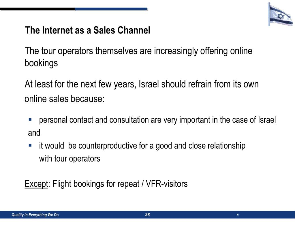 The Internet as a Sales Channel