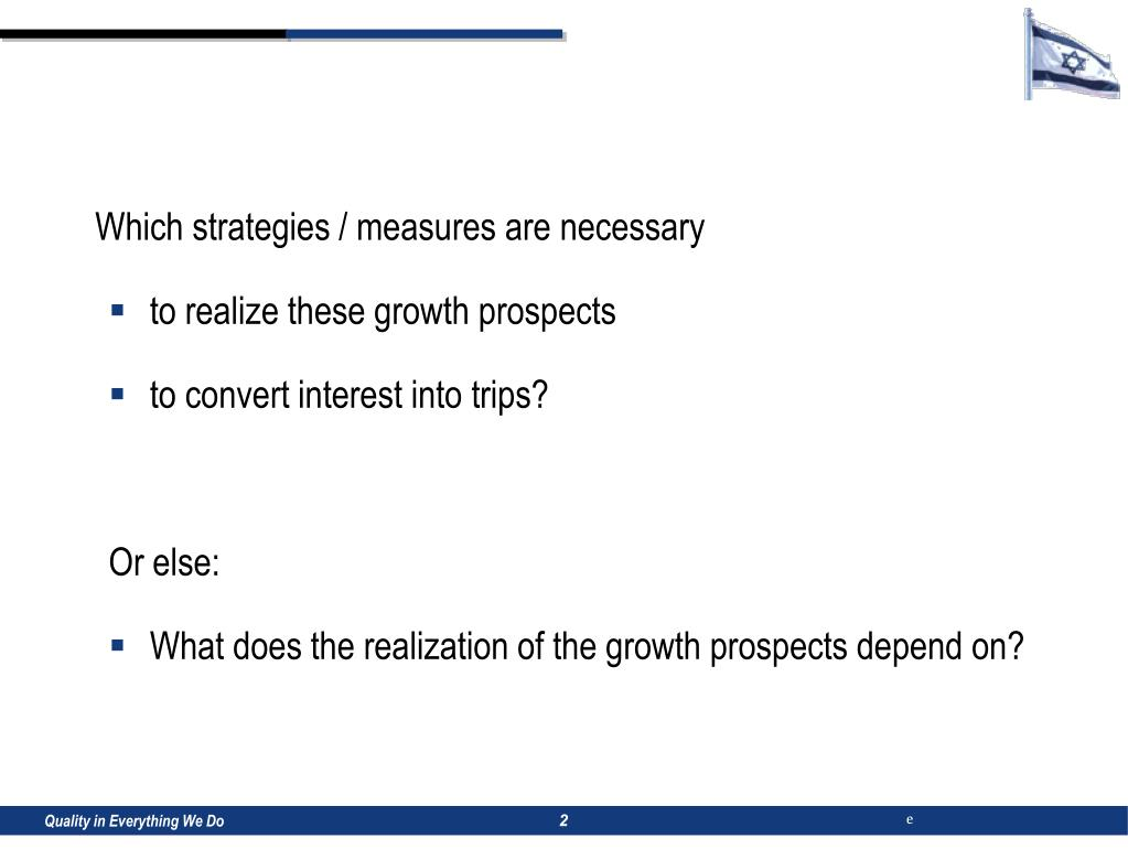 Which strategies / measures are necessary