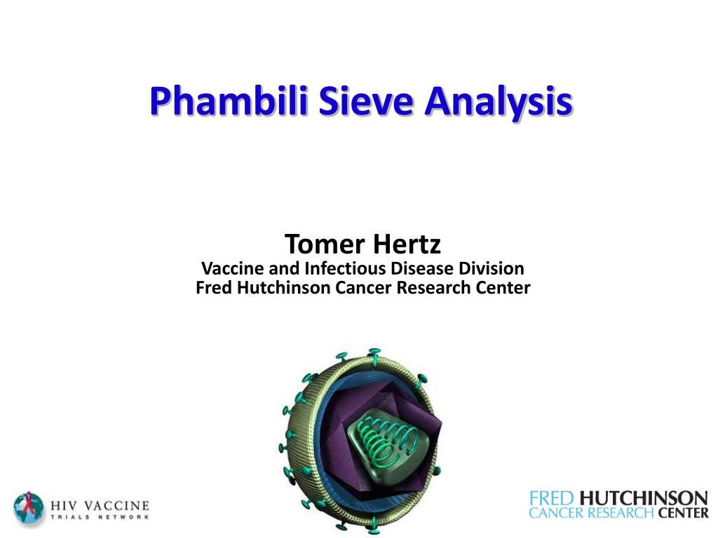 phambili sieve analysis l.