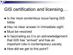 gis certification and licensing