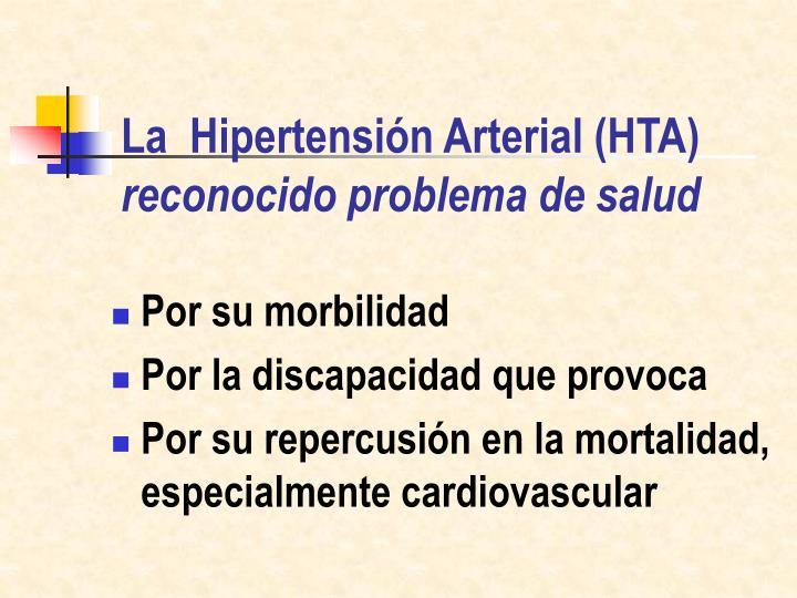 La hipertensi n arterial hta reconocido problema de salud
