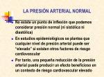 la presi n arterial normal2