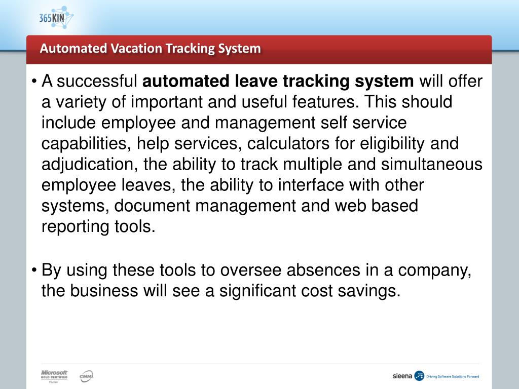 vacation tracking system