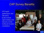 cap survey benefits