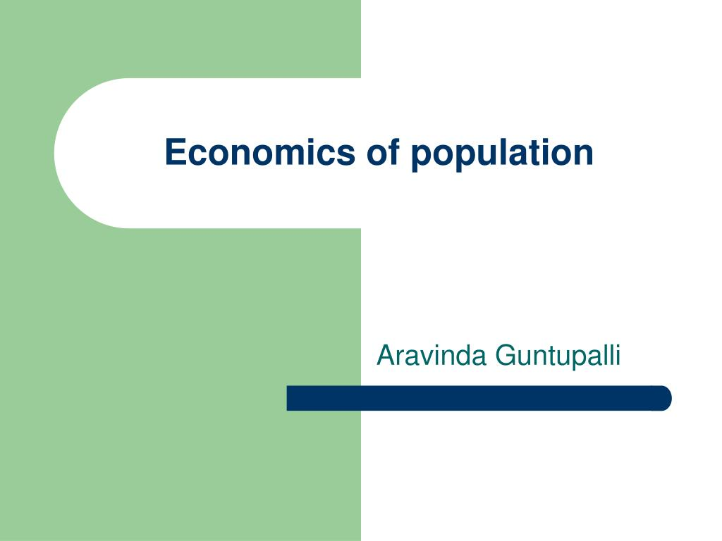 economics of population l.