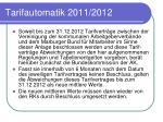 tarifautomatik 2011 2012