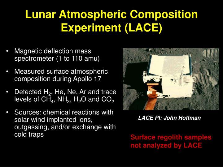 Lunar Atmospheric Composition Experiment (LACE)