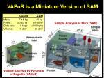 vapor is a miniature version of sam