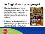 in english or my language
