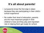 it s all about parents