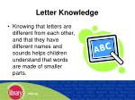 letter knowledge