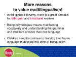 more reasons to value multilingualism