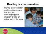reading is a conversation