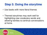 step 5 doing the storytime41