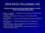 2004 aihce roundtable 243
