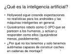 qu es la inteligencia artificial