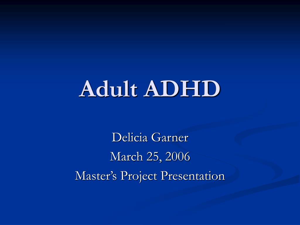 adult adhd l.