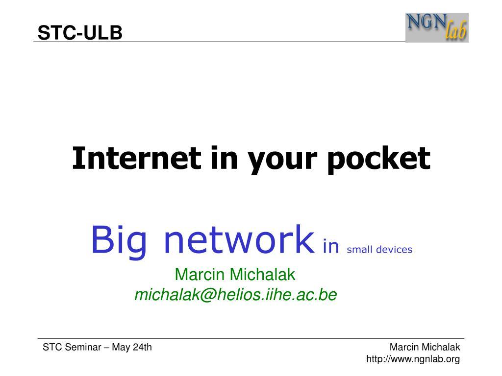 internet in your pocket l.