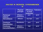 dialysis in neonatal hyperammonem ia