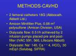 methods cavhd
