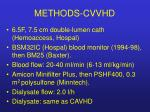 methods cvvhd