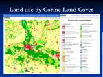 land use by corine land cover