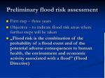 preliminary flood risk assessment