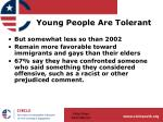 young people are tolerant