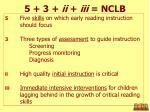 5 3 ii iii nclb