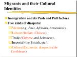 migrants and their cultural identities