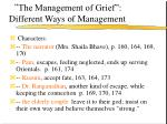 the management of grief different ways of management