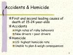 accidents homicide
