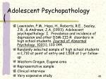 adolescent psychopathology