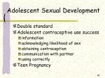 adolescent sexual development