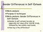 gender differences in self esteem